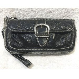 TALBOTS Patent Leather Clutch Wallet Wristlet